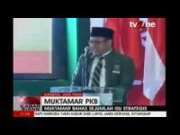 Rangkaian Muktamar PKB, pernyataan dan pidato Ketum DPP PKB Dalam program TV ONE, KABAR SIANG 31 AGUSTUS 2014