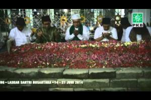 Pengurus DPP PKB, DPW PKB dan puluhan Kiai dalam rangkaian Ziarah Wali Songo di Makam Gus Dur, Jombang, Jatim
