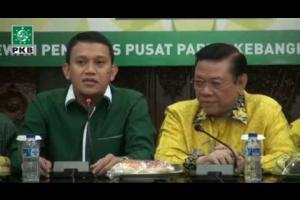 Sekjend DPP PKB Abdul K Karding dan pengurus DPP PKB menerima Kunjungan Agung Laksono dan pengurus Golkar. Rabu (19/03/2015)